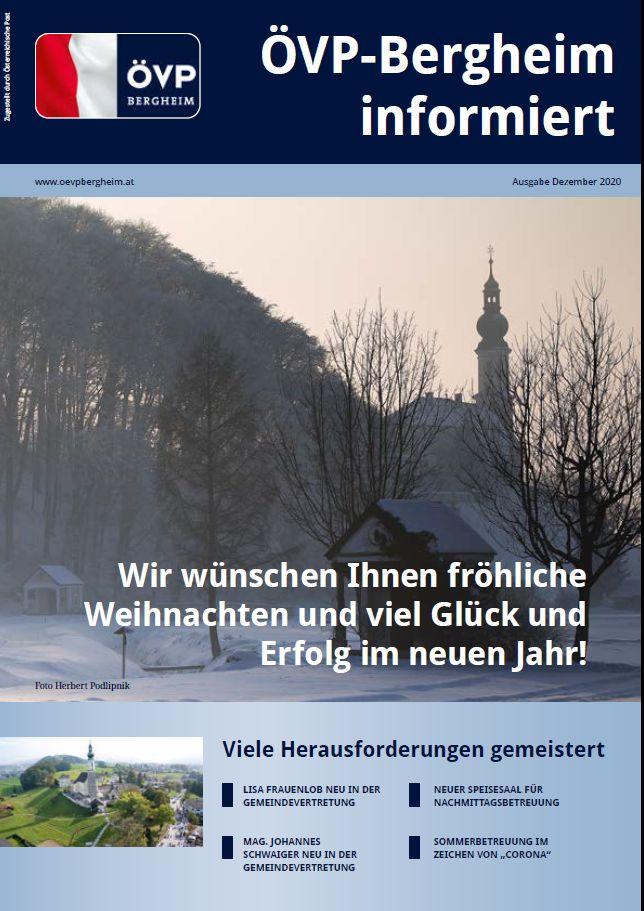 Dezember-Zeitung ÖVP Bergheim